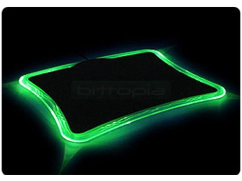 Revoltec RE012. Alfombrilla  LightPad Precision Verde
