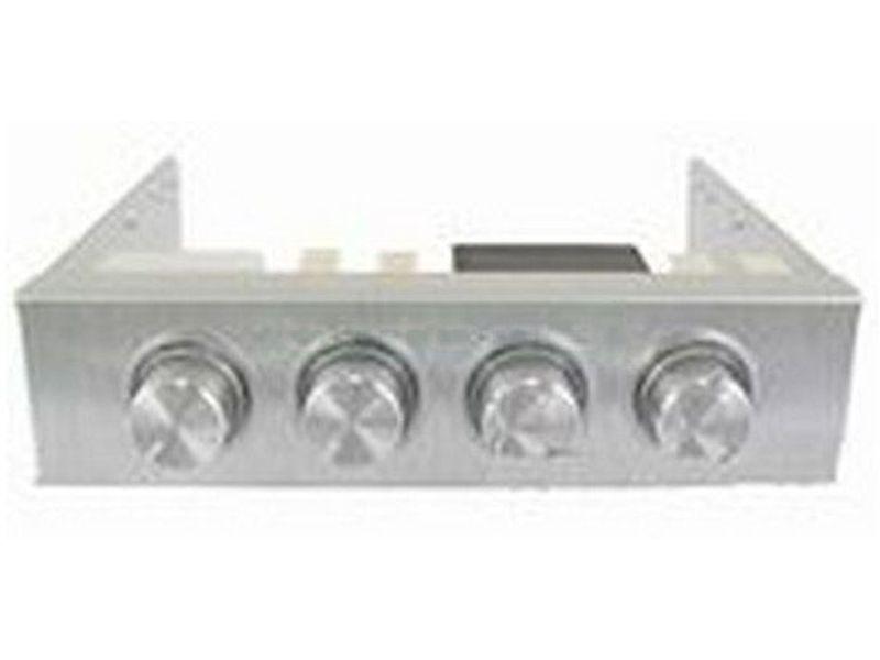 Revoltec RL020. Regulador de Ventilador 3.5, 4-canales, plata - Regulador plata para 4 ventiladores fabricado en aluminio de diseño brillante y metálico.