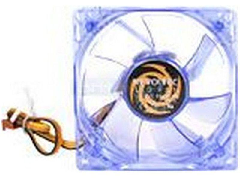 Revoltec Ventilador Azul 120x120x25 4 LED Azul - Ventilador para caja con 4 LEDs de luz de color azul en medida de 120x120mm. Es completamente en color azul transparente a juego con los leds.
