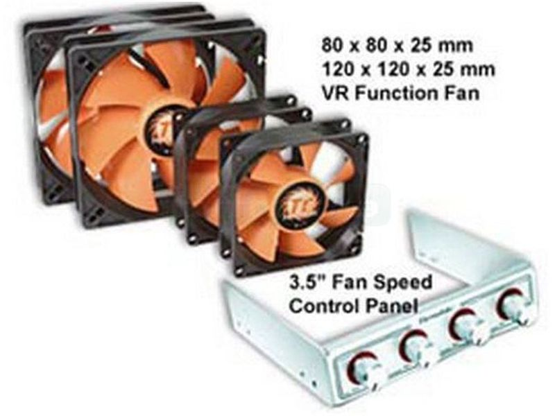 Fan Kit Thermaltake 8025. 4 vent de 80x80 con regulador