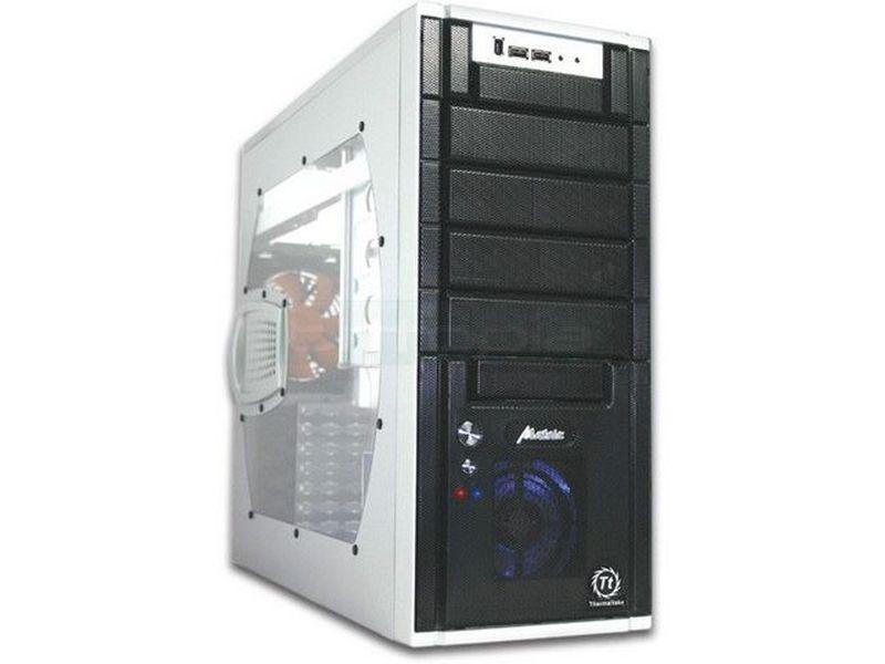 Thermaltake Matrix VX Plata con ventana - Caja en formato semi torre de color plata con ventana, compatible con placas ATX/Micro-ATX. Fabricada en delgado aluminio con los laterales en color negro.