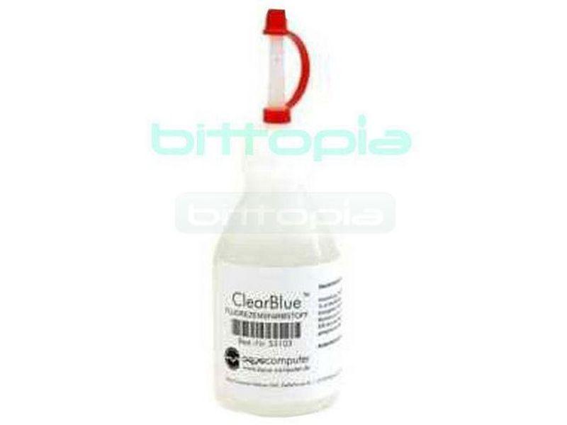Aqua ClearBlue - Brillante liquido aditivo concentrado para circuitos de refrigeración liquida reactivo a la luz ultravioleta.