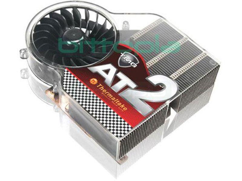 Thermaltake TMG AT2, Cooler VGA - Cooler para tarjetas gráficas ATI, con base y 3 tubos Heat-Pipes de cobre de 6mm y láminas de aluminio. Incluye ventilador de 80mm con un sistema de rodamiento especial que reduce su rozamiento y por lo tanto, su nivel sonoro, alargando su vida útil. Incluye un