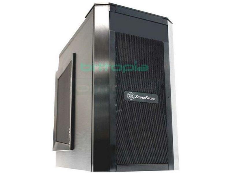 Silverstone SG03B Negro (Micro-ATX) - Caja en formato mini torre de color negro compatible con placas Micro ATX. Sus dimensiones se han buscado para poder emplearla en todo tipo de entornos, su poca profundidad proporciona una excelente ventaja a la hora de refrigerar con la ayuda de los dos ventiladores de 12cm.