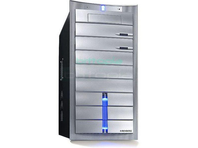 Revoltec RG007.  Zirconium Plata - Caja en formato semi torre en color plata compatible con placas Micro-ATX/ATX, de líneas elegantes y atractivas. Fabricada en acero SECC 0,8mm que le proporciona un carácter y estructura robusta.