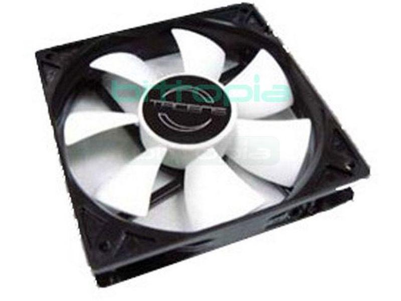 Tacens Aura Ice 80, ventilador. - De bajo nivel sonoro, incluye 4 leds de luz blanca ultra brillante. Emplea el nuevo sistema de rodamientos