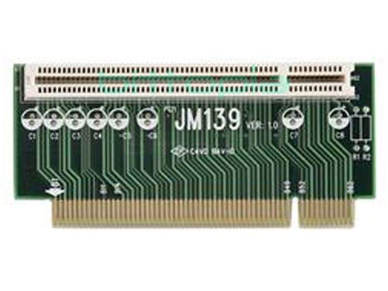 OEM Riser card Mini-ITX JM139 - Tarjeta riser orientada en sentido contrario compatible con cajas mini-itx. Incluye 1 ranura pci.