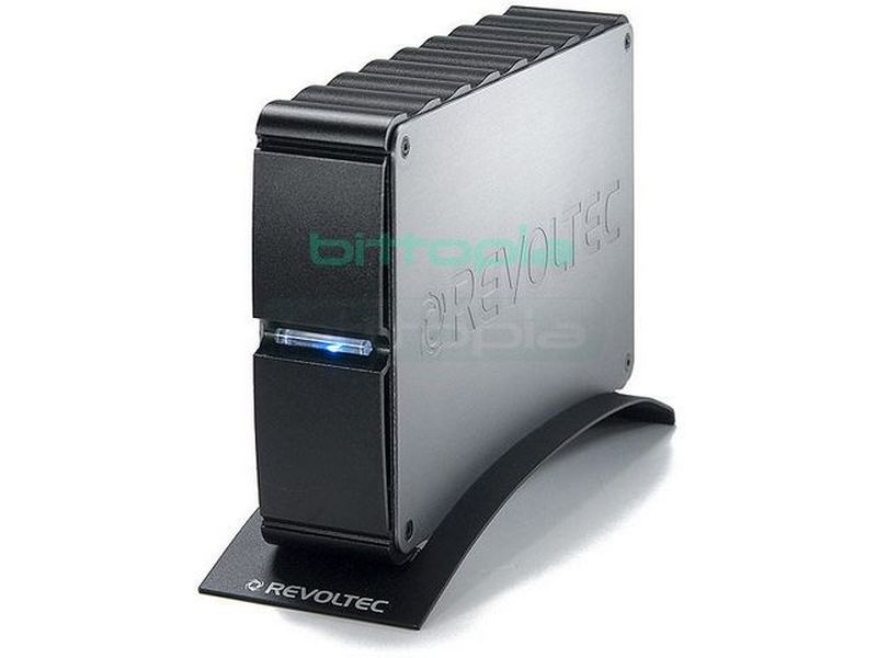 Revoltec RS046.  AluGuard para HD 3.5 IDE a USB - Caja para disco duro IDE de 3,5. Conexión USB 2.0. Fabricada en aluminio.