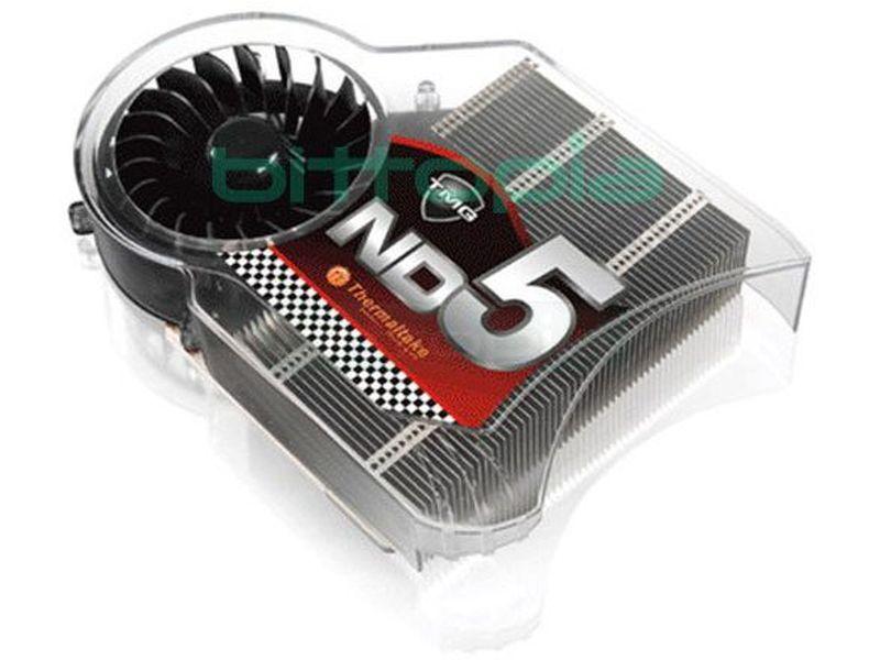 Thermaltake TMG ND5, Cooler VGA - Cooler para tarjetas gráficas nVidia, con base y 4 tubos Heat-Pipes de cobre de 6mm y láminas de aluminio.
