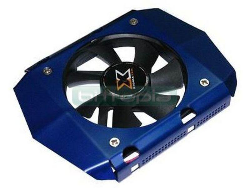 Xigmatek HDC-D801, Disipador HDD - Moderno diseño de cooler para disco duro fabricado en aluminio. Incluye ventilador de 80mm. Compatible con hd de 3.5