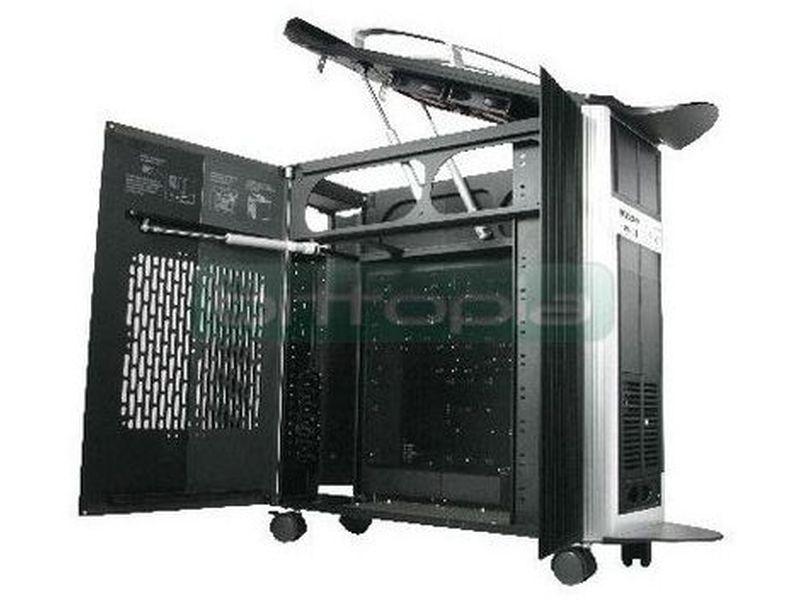 Thermaltake SwordM - Caja en formato torre de color negro con detalles en plata, compatible con placas ATX, E-ATX. Fabricada en aluminio y con un diseño interior y exterior extraordinariamente avanzado.