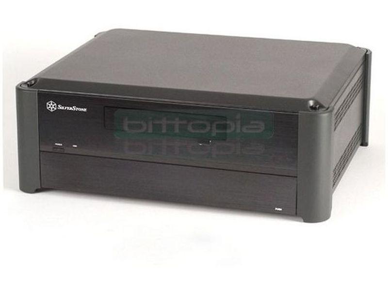 Silverstone GD02B Negro. Ideal para HTPC - Caja en formato sobremesa de color negro compatible con placas Micro ATX/DTX/Mini-ITX. Integra igualmente la innovación y la estética. Una caja de tipo HTPC tampoco antes había sido tan potente y compacta como lo es la GD02. Con tan solo 360mm de fondo.