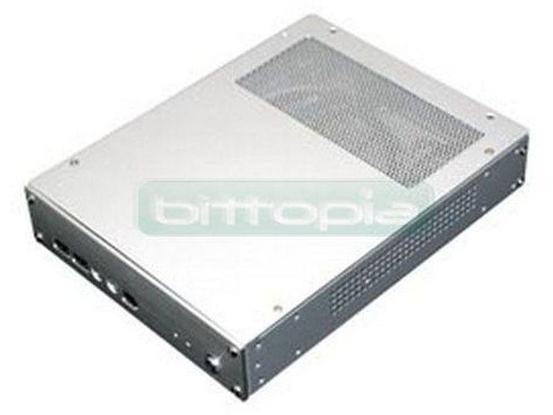 Caja Mini-ITX SilverStone PETIT PT04B negra - Caja Mini itx con una altura de sólo 4.34 cm. Dispone de bahía de 2.5 y frontal con usb, iee1394, audio.
