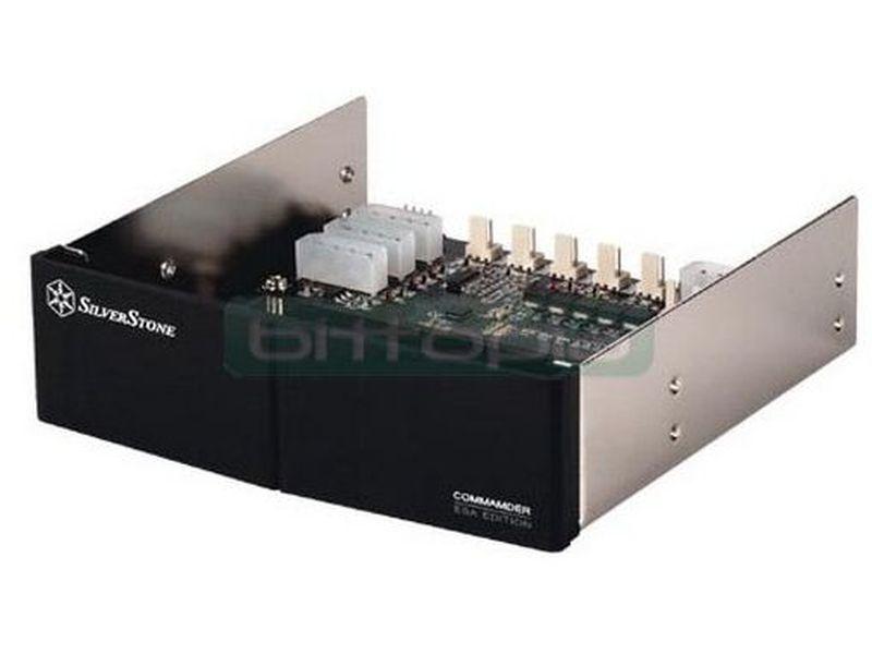 SilverStone CMD01B-ESA Negro frontal para control ESA - Frontal en color negro que permitirá a los usuarios monitorizar y controlar las prestaciones de refrigeración de su equipo. Cuando se conecta a una placa certificada ESA, puede proporcionar un completo sistema de supervisión y control de temperaturas .