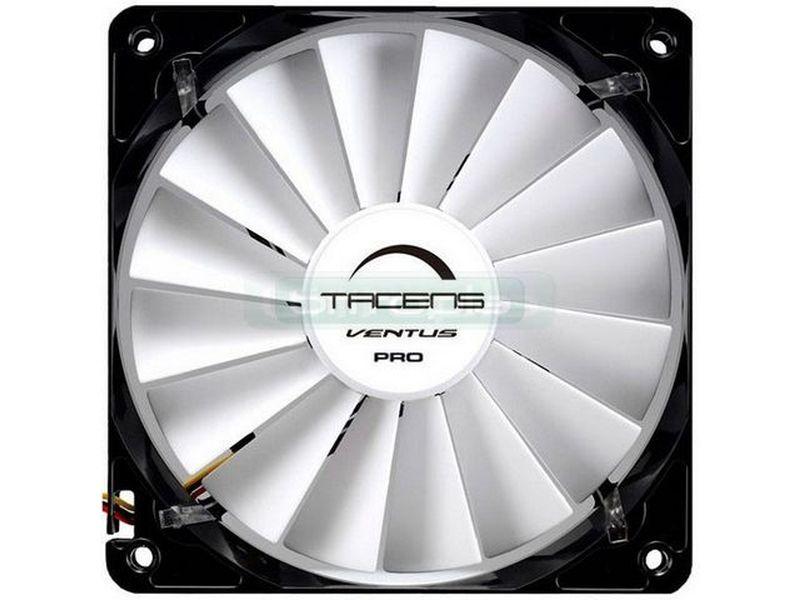 Tacens Ventus PRO 120, ventilador. - Silencioso con un alto caudal de aire que incluye un regulador manual para un slot trasero. Tiene 16 palas aerodinámicamente diseñadas para mejorar sus prestaciones.
