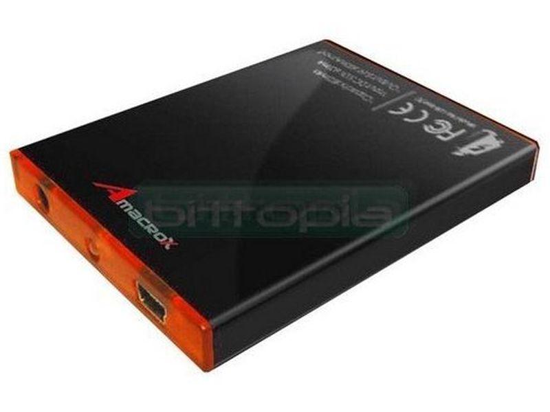 Amacrox Battery Plus - Pequeña y portátil bateria de bolsillo adicional para sus dispositivos móviles a través de conector USB. Increiblemente ligera y compacta.