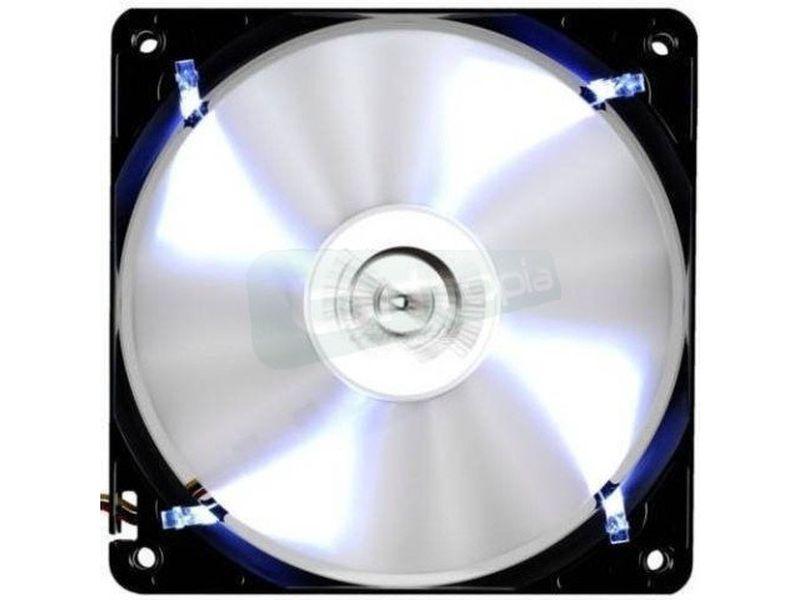 Tacens Ventus ICE 120, ventilador. - Silencioso con un alto caudal de aire, incluye 4 leds de luz blanca ultra brillante. Tiene 16 palas aerodinámicamente diseñadas para mejorar sus prestaciones.