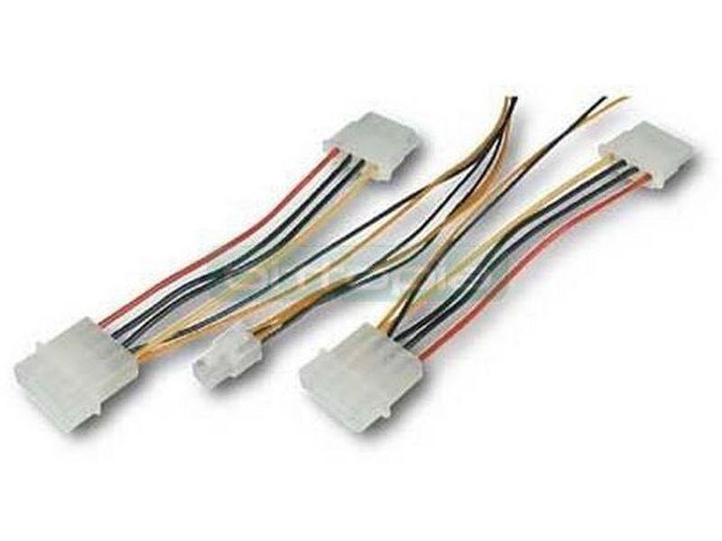 OEM Adaptador molex de 4 pins a P4 - Obtiene un conector de alimentación P4 para placa base a partir de dos Molex de 5.25 (20cm)