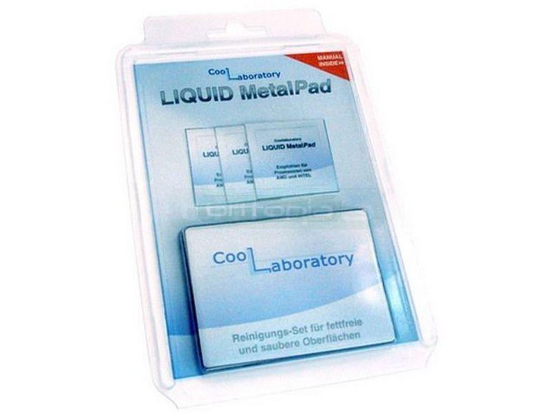 Coollaboratory Metal Pad 1 CPU - Está compuesto por láminas conductoras de su famoso compuesto térmico, pero en este caso, en estado sólido.
