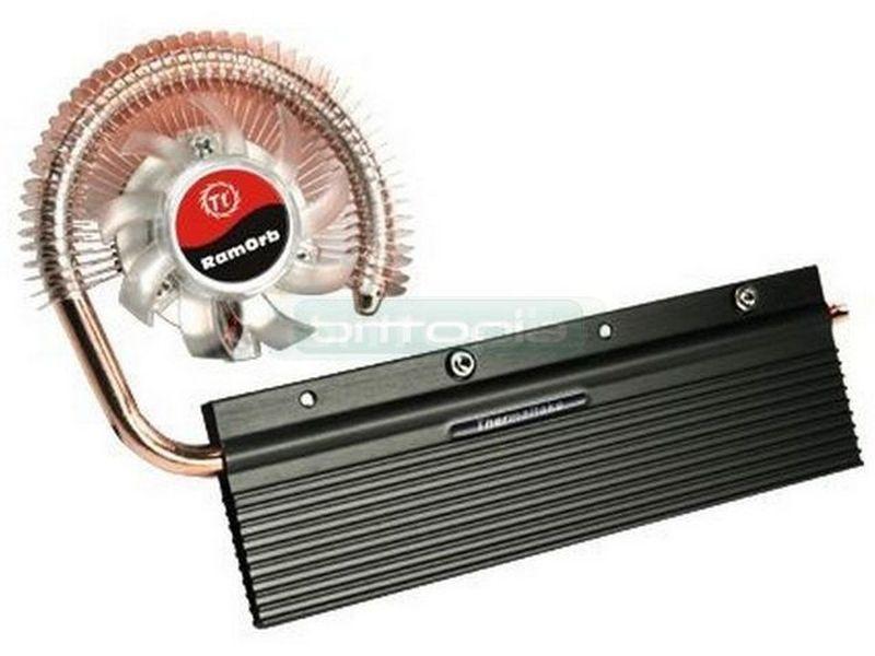 Thermaltake RamOrb Cooler para memoria - Cooler para modulos de memoria fabricado en aluminio. Incluye tecnología heat-pipe y ventilador de 50mm. Sencilla instalación. Compatible con modulos DDR y DDR2.
