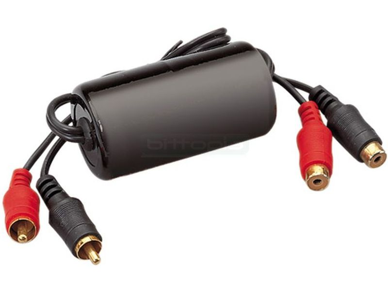 OEM Aislador de masas RCA GLI - Aísla la salida y la entrada de audio, eliminando ruidos eléctricos y parásitos.