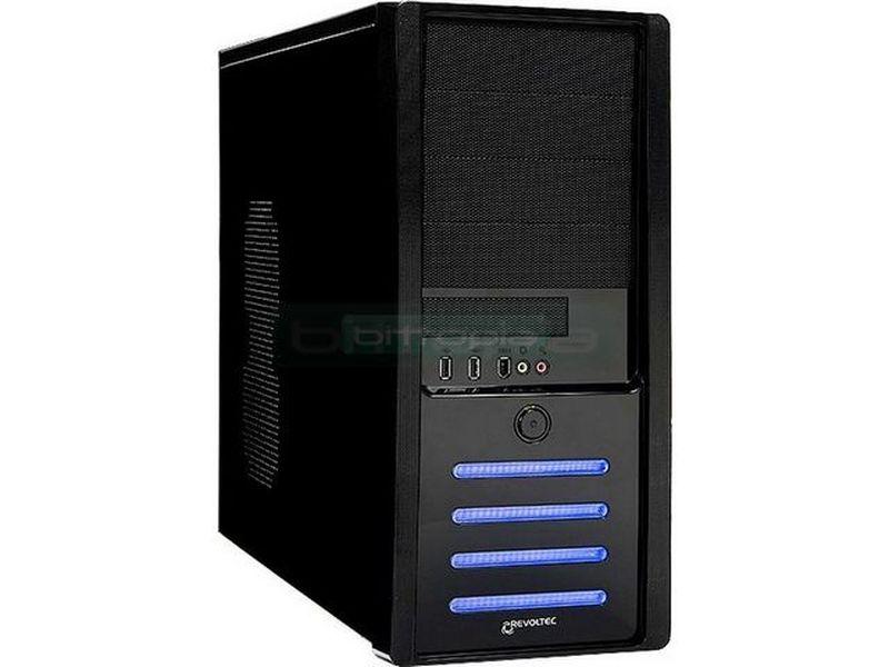 Revoltec RG013.  Seventy1 Negra - Caja en formato semi torre compatible con placas Micro-ATX/ATX. Sofisticada caja con un acabado de color negro piano, fabricada en acero SECC.
