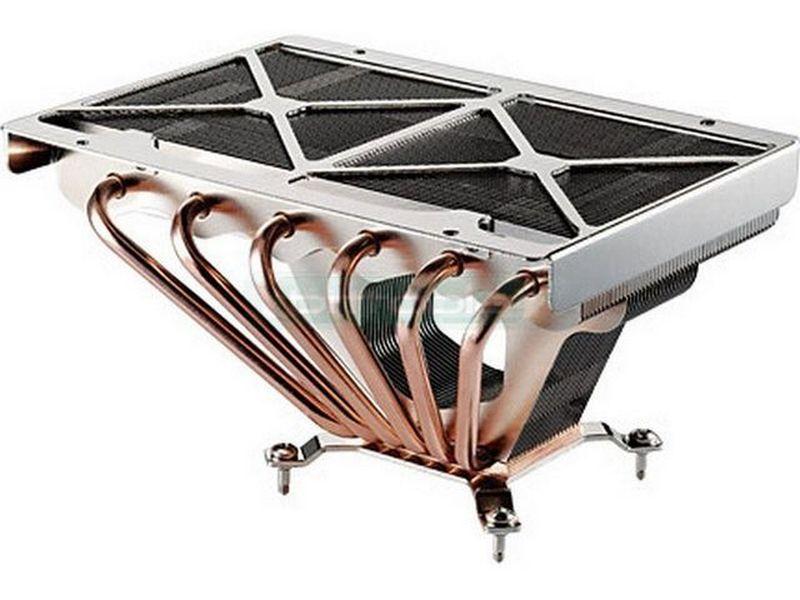 Cooler Master GeminII - Cooler para CPU compatible con socket Intel 775 y AMD 754, 939, 940, AM2. Gran capacidad de refrigeración, 6 tubos heat pipe sin ventilador. Permite añadir 2 de 120mm. Flexibilidad de montaje.