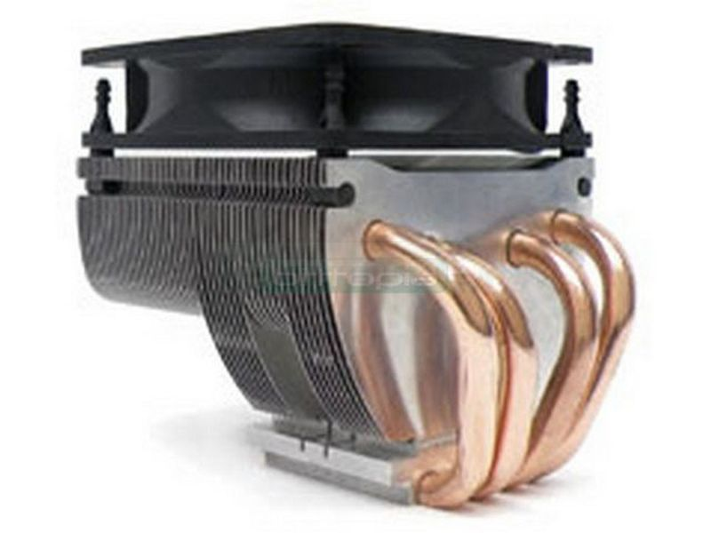 Xigmatek HDT-D984 Cobra - Cooler para CPU fabricado en aluminio y Heat-pipes de cobre. Ventilador 90mm PWM, 1200~2800RPM, max. 54.6CFM, 20~28dBA. Compatible con 775, 754, 939, 940 y AM2.