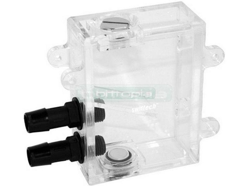 Swiftech MCRES Micro Rev.2 - Depósito de agua transparente de reducidas dimensiones, apto para ser instalado en casi cualquier lugar.