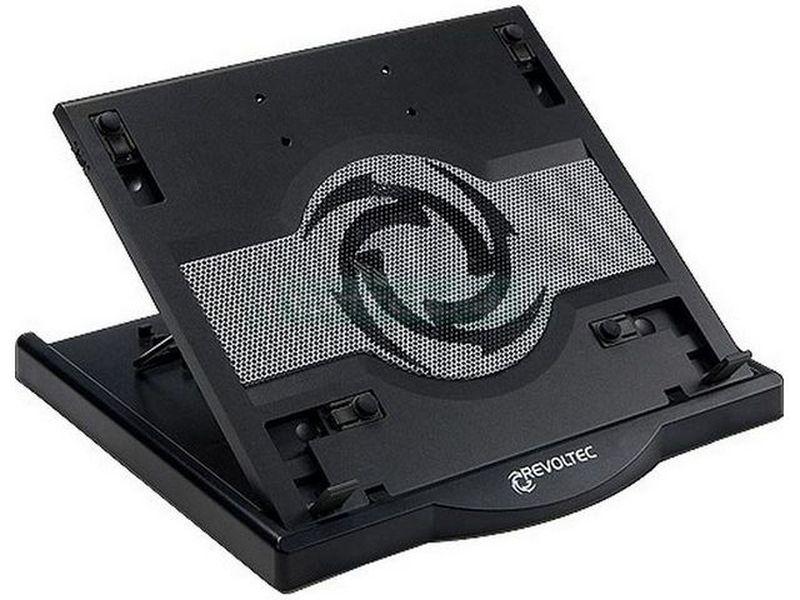 Revoltec RNC09. Notebook Cooler RNC-1400 Negro - Cooler para portátil compatible con pantallas de 12 hasta 15,4 con el soporte más flexible del mercado. Tiene 6 diferentes posiciones de inclinación.