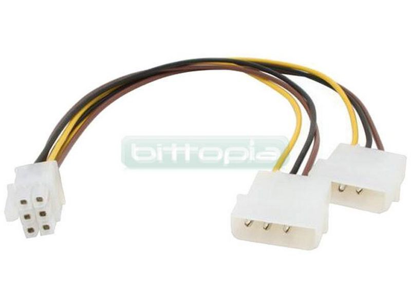 OEM Adaptador PCI Express, 2 x 5.25 a 1 x 6 Pin