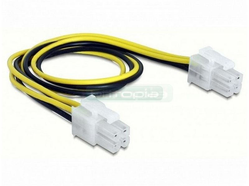 Delock Cable Power supply 4pin male/male