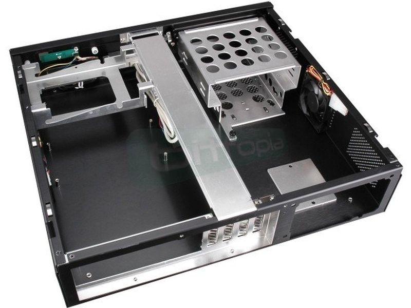 Lian-Li PC-C39B Negra Sobremesa - Elegante sobremesa para equipos de salón con control remoto.