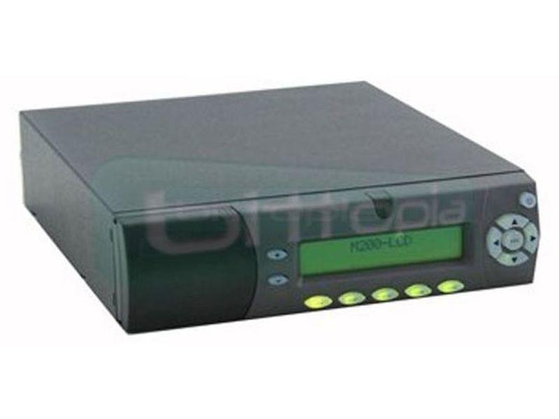 Mini-Box Caja Mini-ITX M200LCD - La caja M200 LCD mini-ITX destaca por sus pequeñas dimensiones, pensada para utilizar las fuentes PicoPSU. Soporta además, todo tipo de placas Mini-ITX y cuenta con espacio para dos discos de 2.5