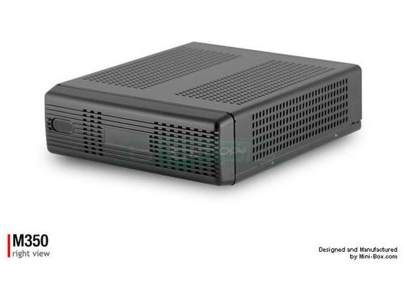 Mini-Box Caja Mini-ITX M350 - La caja universal. Increíble caja en mayúsculas. Cada detalle de esta caja es una grata sorpresa. De serie incluye espacio un disco de 2.5