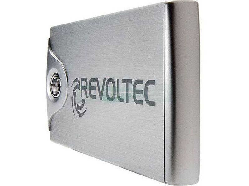 Revoltec RS064.  File Protector 2.5 SATA a USB 2.0 Negro - Caja externa de aluminio File Protector en color negro para discos duros de 2,5 SATA. Rápido Interface USB 2.0(480Mbps). Mínimas dimensiones, grandes prestaciones, precios sorprendentes. Fabricada en aluminio. Cuenta con una función Backup: El pulsador backup desencadena la copia de seguridad de los datos predefinidos mediante el software adjunto. Seguridad extrema para salvar nuestros datos en el momento.