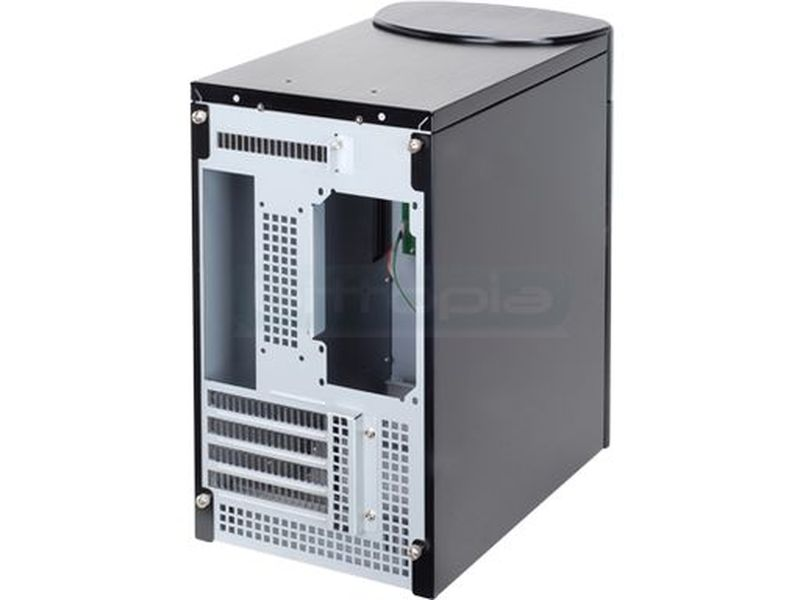 Silverstone SG04B-F Negro (Micro-ATX) - Caja en formato mini torre de color negro compatible con placas Micro ATX. Es seguramente un chasis especial. Ha sido mejorado en todos los aspectos desde las especificaciones hasta la impresión de los usuarios.