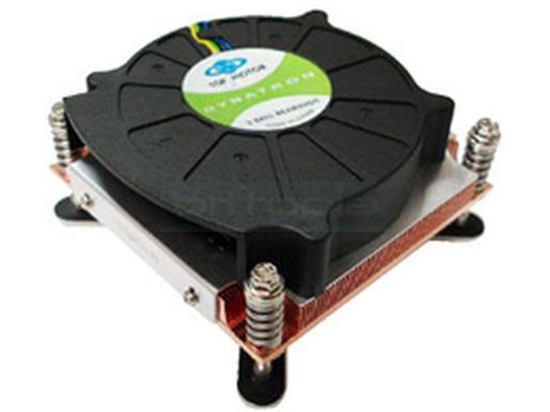 Dynatron K199G 115X Rack 1U Activo - Cooler de bajo perfil para RACK 1U compatible con socket 115x con ventilador de 80mm tipo blower.
