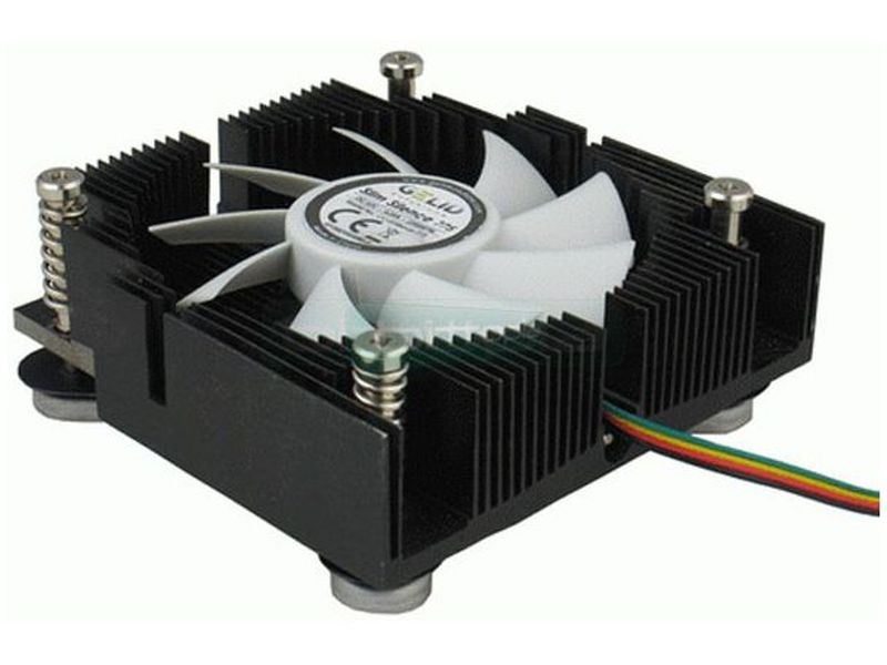 Gelid SlimSilence 775 - Cooler de bajo perfil para RACK 1U compatible con socket 775 con ventilador silencioso regulado por PWM.