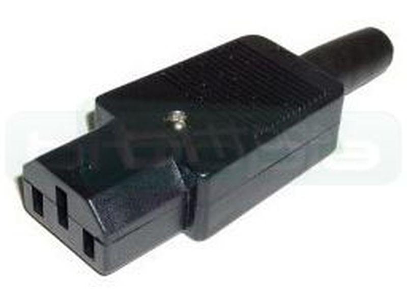 OEM Clavija desmontable IEC-60320 C13 - Permite hacer cables a medida. Conector IEC-60320 C13 hembra.