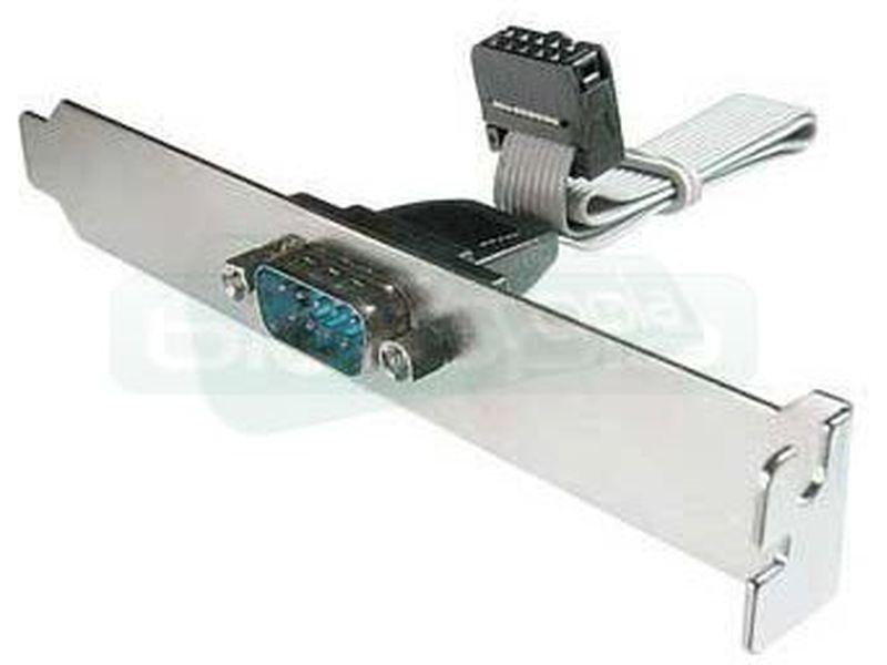 Bracket con salida puerto Serie - Bracket para slot trasero. Un puerto Serie adicional desde conexión interna.