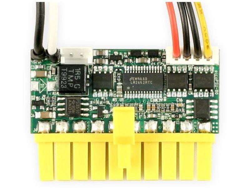 F.A. PicoPSU 80W 12V DC-DC especial placas Intel Atom - Fuente interna DC-DC de 80W y 12V en formato PicoPSU diseñada para placas con procesador Intel Atom. Es ideal para el montaje de equipos de mínimas dimensiones.