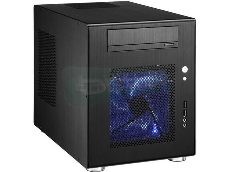 Lian Li PC-Q08B. Negra. Cubo - Pequeños cubos pensados para grandes PCs. Su espacio interior permite instalar tarjetas gráficas de gama alta.