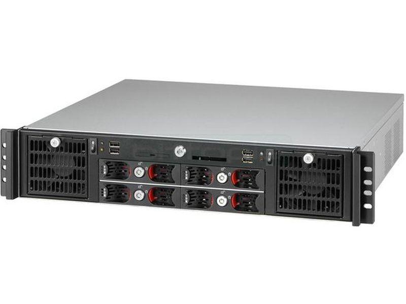 Travla T-2240 Caja Rack 2U Mini-itx - Caja en formato Rack 2U de color negro compatible con todo tipo de placas Mini-ITX. Incluye dos fuentes de alimentación, espacio para dos placas y hasta 4 discos duros.