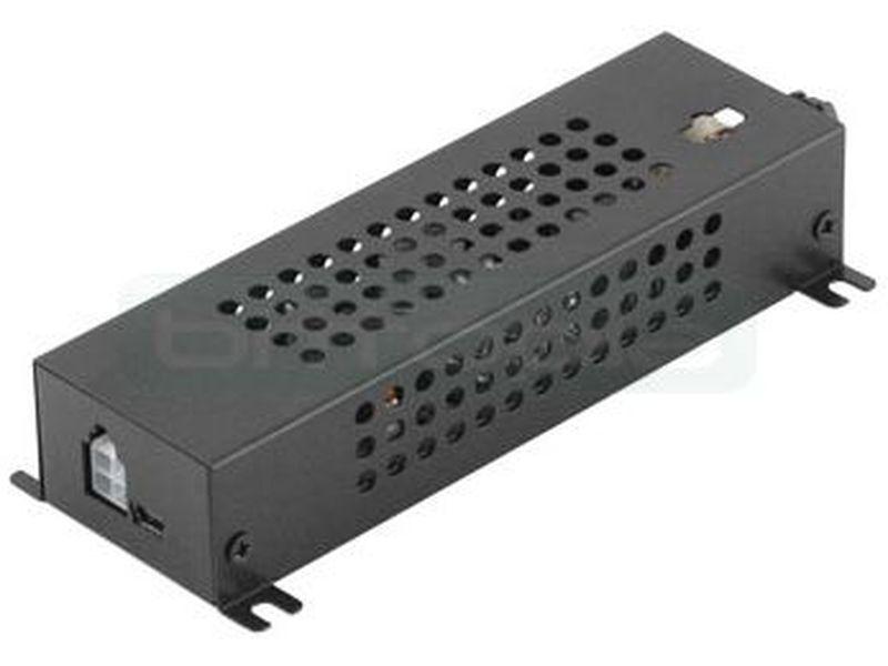 Caja metálica para F.A. Inteligente DCDC-USB - Carcasa metálica para la fuente DC-DC-USB. Permite la instalación de dicha fuente de manera sencilla dejando un acceso rápido a sus concetores y al fusible.