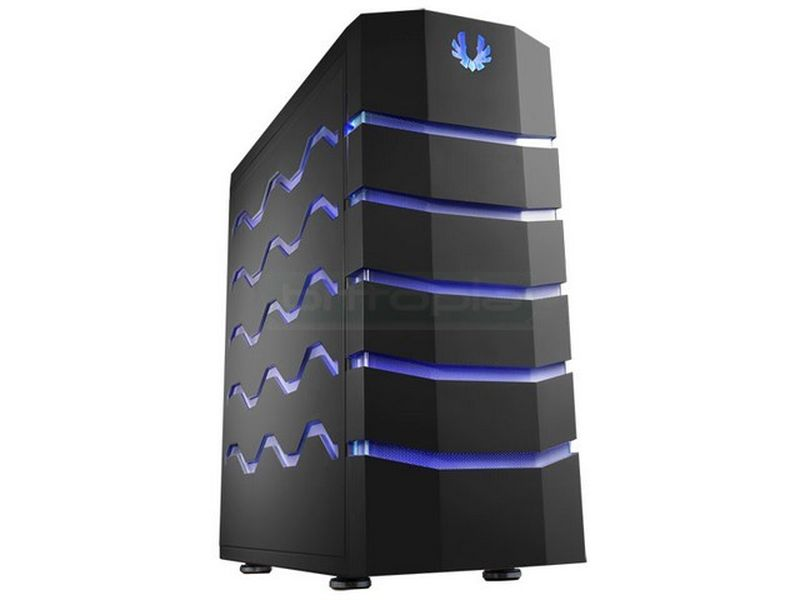 Bitfenix Colossus USB 3.0 Negra LED Azul/Roja - Caja FullTower de color negro. Conexiones: 2xUSB 3.0, 2x USB 2.0, eSATA y Audio. Compatible con placas E-ATX. 5 x Bahías externas 5.25. 7 x Bahías internas 3.5.