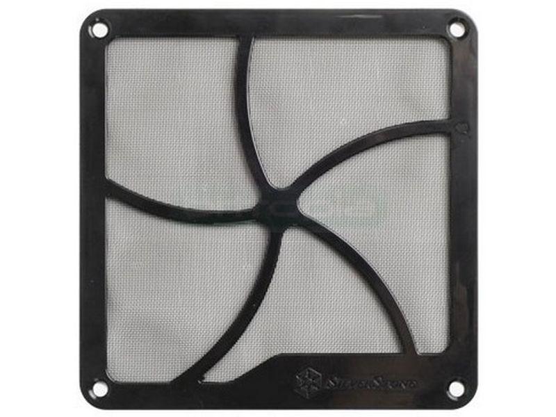 SilverStone FF141B Rejilla Magnética + Filtro - Este filtro magnético de 140mm es también compatible con la mayoría de las aberturas de 120mm, lo que le aporta mayor funcionalidad.