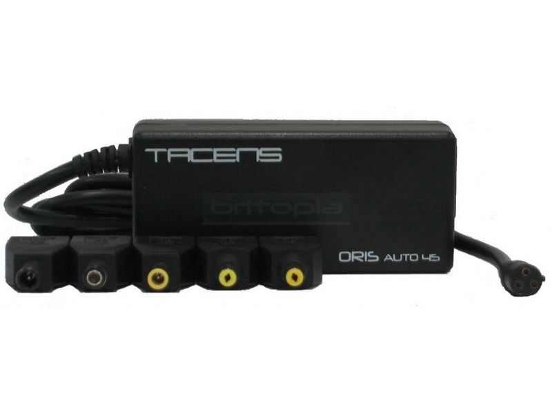 Transformador Tacens Oris Auto 45 - Adaptador de corriente para portatiles hasta 45W, compatible con la inmensa mayoría de los portátiles y pantallas LCD del mercado.