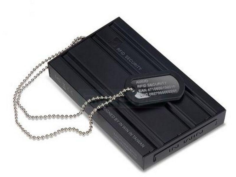 In Win AMMO 2.5 SATA  HD Antishock - Caja para disco duro 2,5 con conexión USB 2.0. Fabricada en acero de color negro.