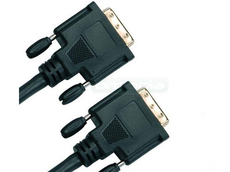 cable DVI-DVI 2m. Negro - Cable DVI-DVI negro, de 2m de longitud.